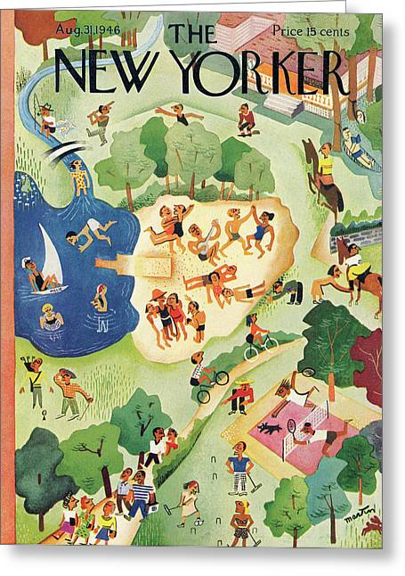 New Yorker August 31st, 1946 Greeting Card by Charles E. Martin