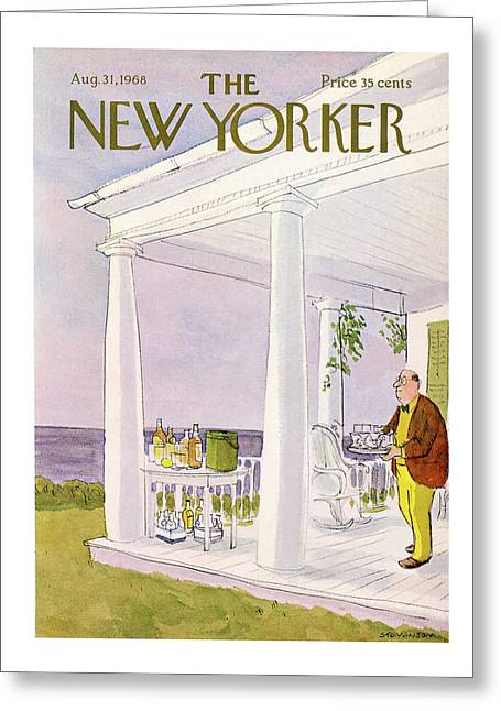 New Yorker August 31st, 1968 Greeting Card