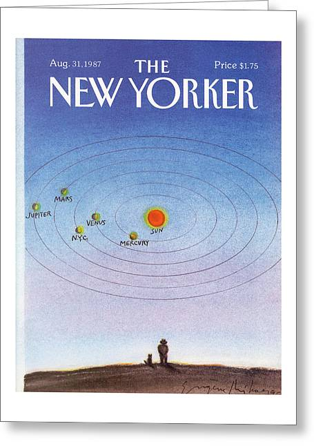 New Yorker August 31st, 1987 Greeting Card