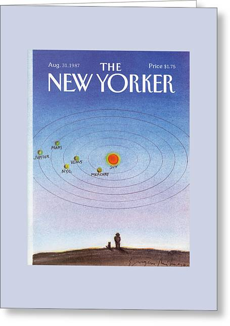 New Yorker August 31st, 1987 Greeting Card by Eugene Mihaesco