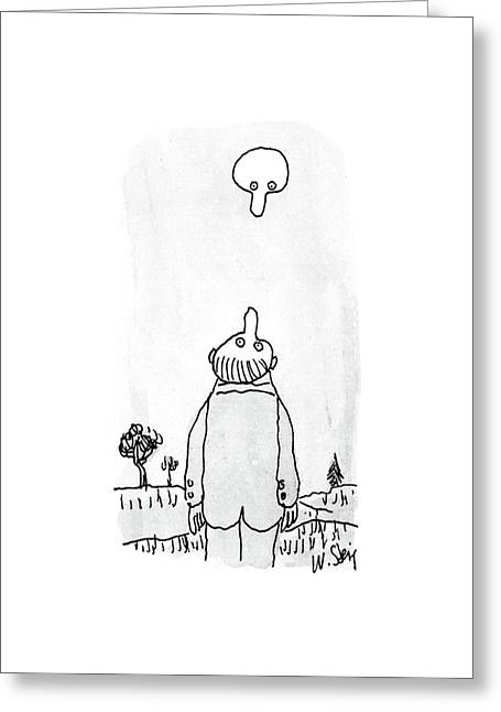 New Yorker August 3rd, 1987 Greeting Card by William Steig