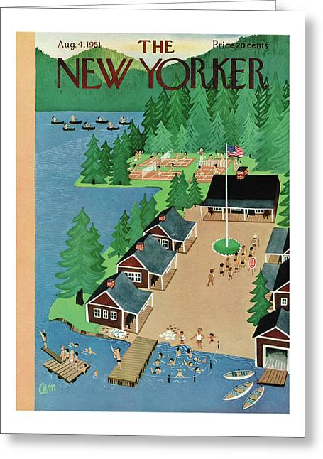 New Yorker August 4th, 1951 Greeting Card