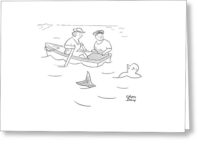 New Yorker August 5th, 1944 Greeting Card by Chon Day