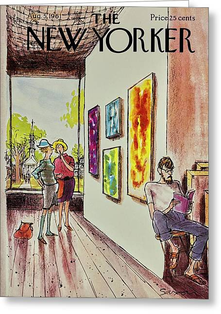New Yorker August 5th 1961 Greeting Card