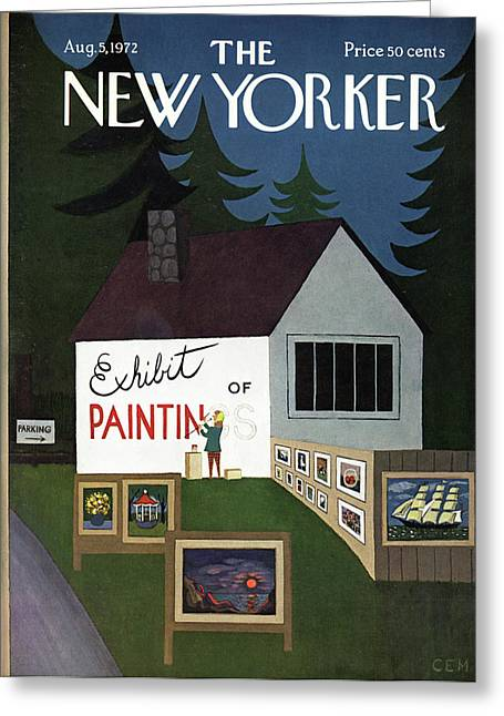 New Yorker August 5th, 1972 Greeting Card