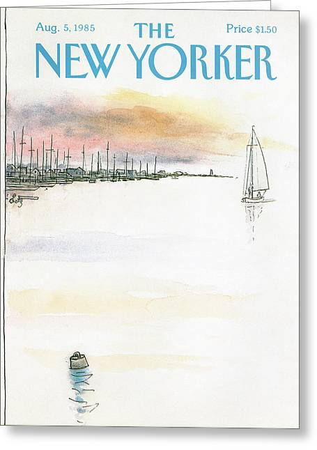 New Yorker August 5th, 1985 Greeting Card by Arthur Getz