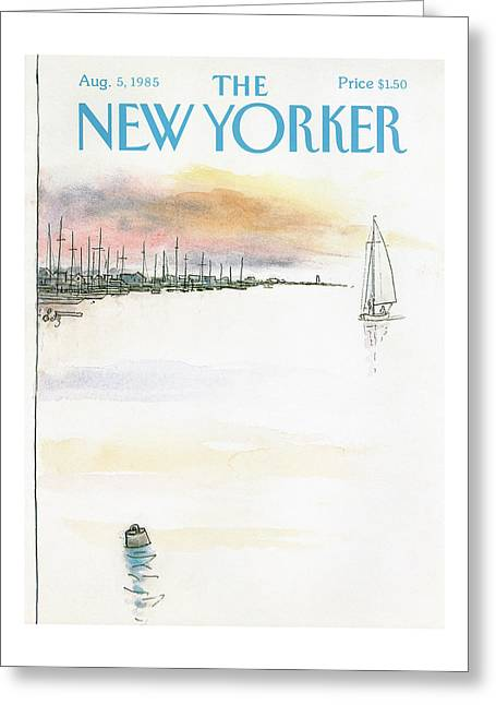 New Yorker August 5th, 1985 Greeting Card