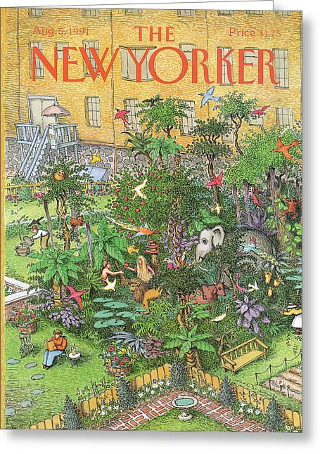 New Yorker August 5th, 1991 Greeting Card by John O'Brien