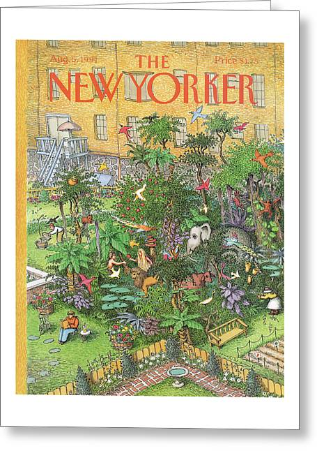 New Yorker August 5th, 1991 Greeting Card