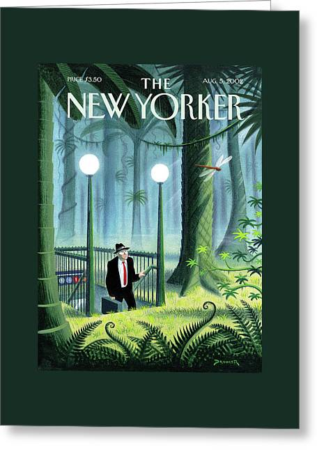 New Yorker August 5th, 2002 Greeting Card by Eric Drooker