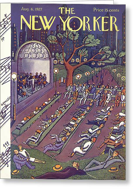 New Yorker August 6th, 1927 Greeting Card