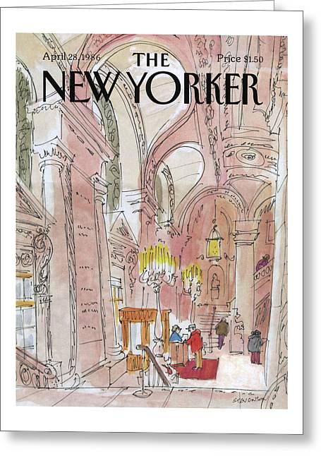 New Yorker August 6th, 1938 Greeting Card