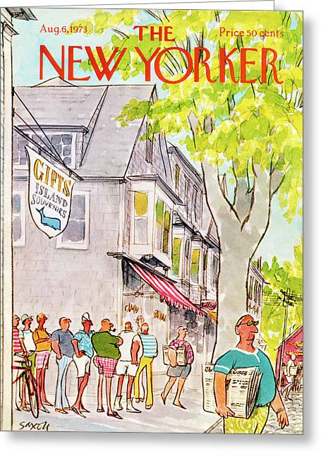 New Yorker August 6th, 1973 Greeting Card