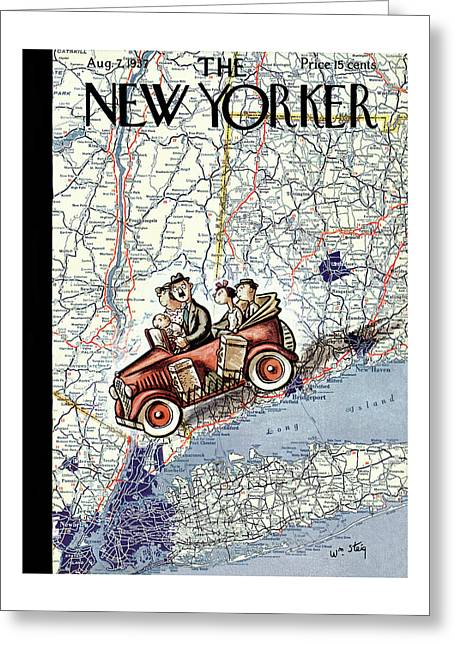New Yorker August 7th, 1937 Greeting Card