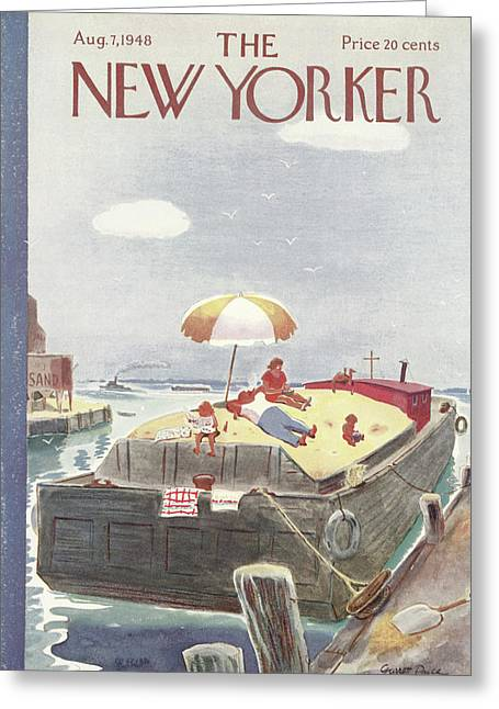 New Yorker August 7th, 1948 Greeting Card