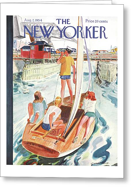 New Yorker August 7th, 1954 Greeting Card