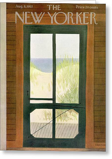 New Yorker August 8th, 1953 Greeting Card by Edna Eicke