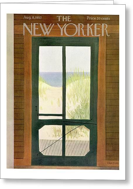 New Yorker August 8th, 1953 Greeting Card