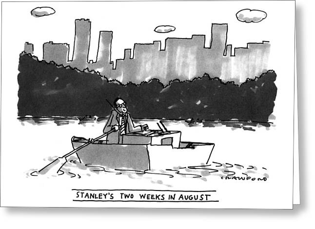New Yorker August 8th, 1994 Greeting Card by Michael Crawfor