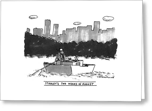 New Yorker August 8th, 1994 Greeting Card by Michael Crawford