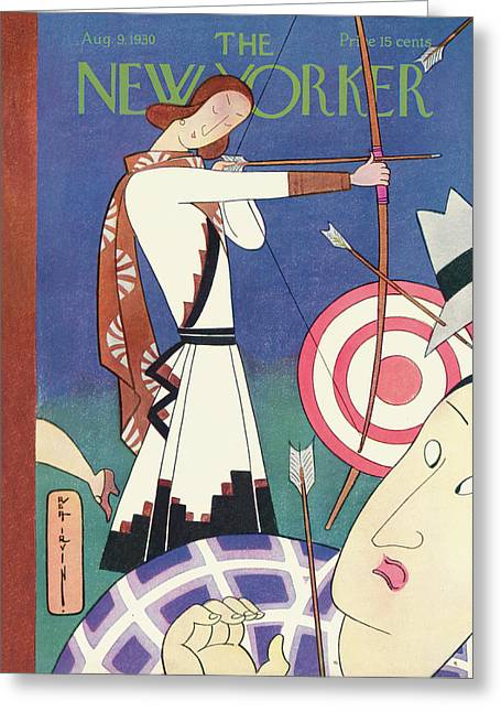 New Yorker August 9th, 1930 Greeting Card by Rea Irvin