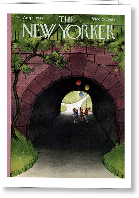 New Yorker August 9th, 1947 Greeting Card