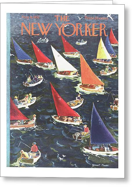 New Yorker August 9th, 1952 Greeting Card