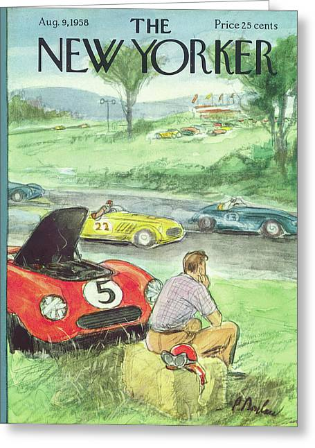 New Yorker August 9th, 1958 Greeting Card by Perry Barlow