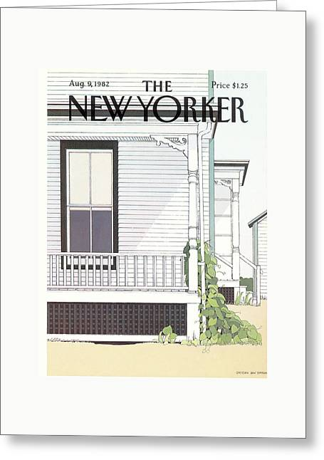 New Yorker August 9th, 1982 Greeting Card by Gretchen Dow Simpson