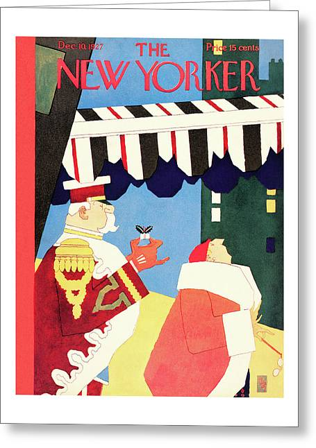 New Yorker December 10th, 1927 Greeting Card