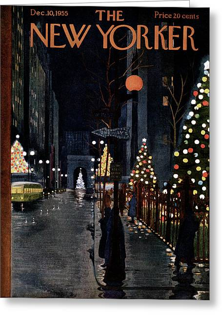 New Yorker December 10th, 1955 Greeting Card by  Alain