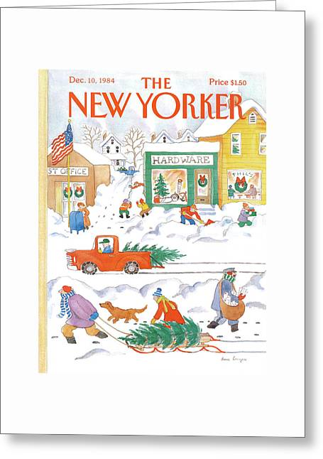 New Yorker December 10th, 1984 Greeting Card by Anne Burgess