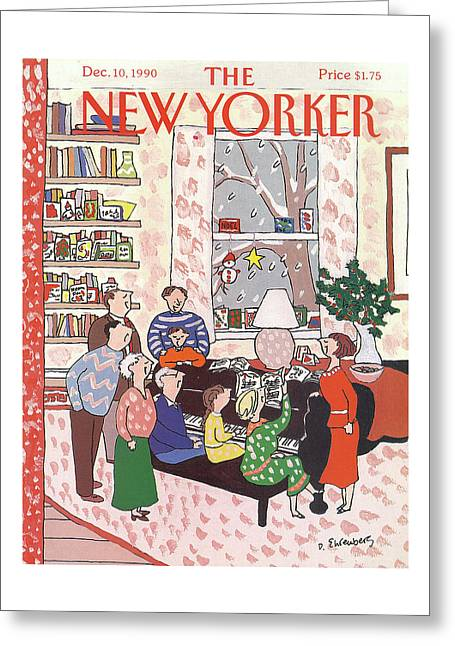 New Yorker December 10th, 1990 Greeting Card