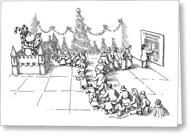 New Yorker December 10th, 1990 Greeting Card by John O'Brien
