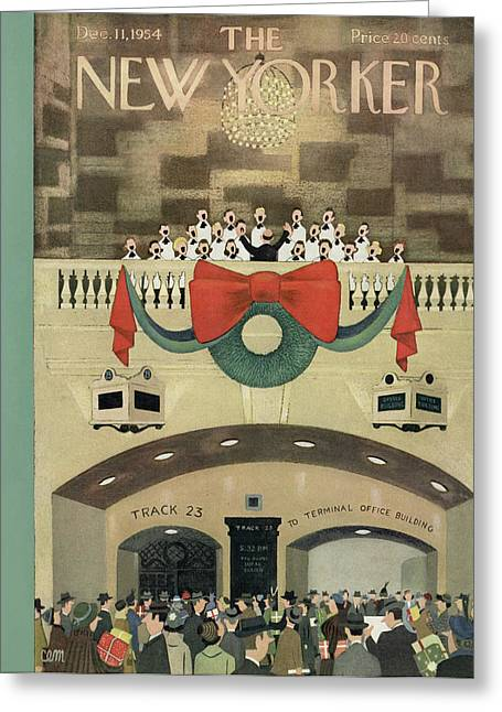 New Yorker December 11th, 1954 Greeting Card by Charles E. Martin