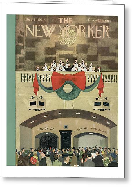 New Yorker December 11th, 1954 Greeting Card