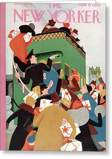 New Yorker December 12th, 1931 Greeting Card