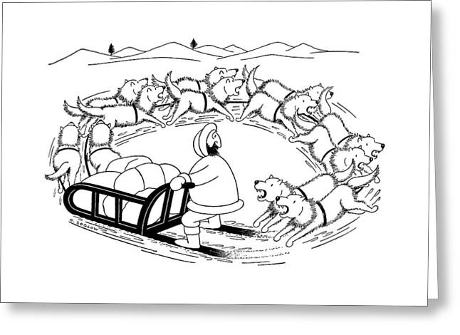 New Yorker December 12th, 1959 Greeting Card