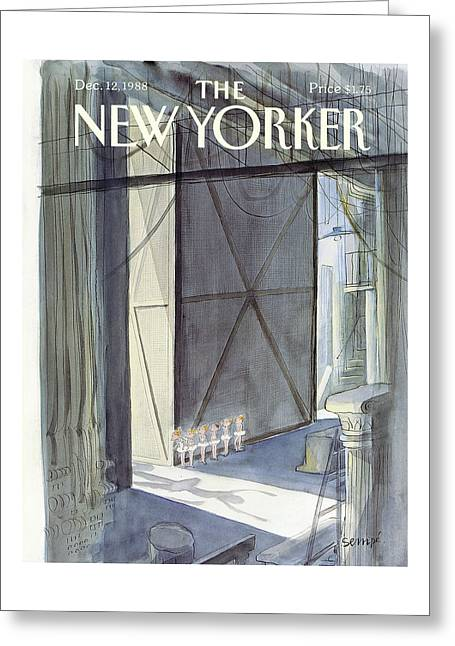 New Yorker December 12th, 1988 Greeting Card