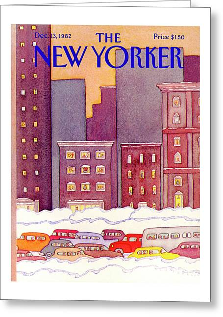 New Yorker December 13th, 1982 Greeting Card