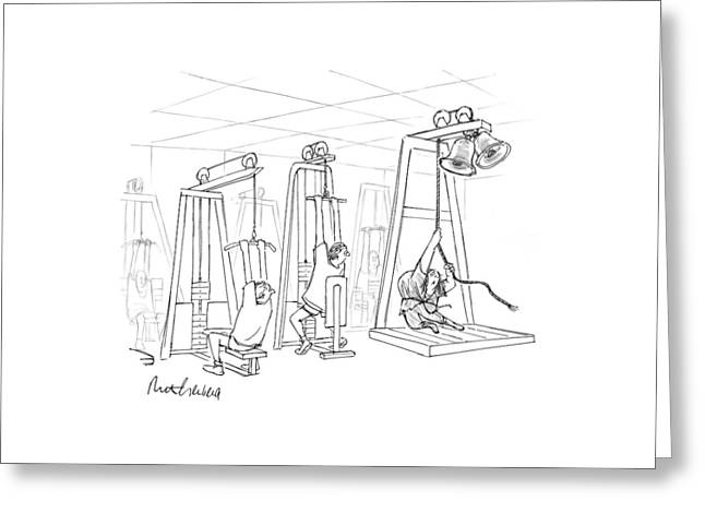 New Yorker December 13th, 1999 Greeting Card by Mort Gerberg