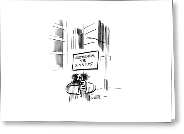 New Yorker December 14th, 1987 Greeting Card by Donald Reilly