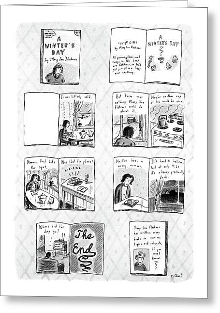 New Yorker December 14th, 1987 Greeting Card by Roz Chast