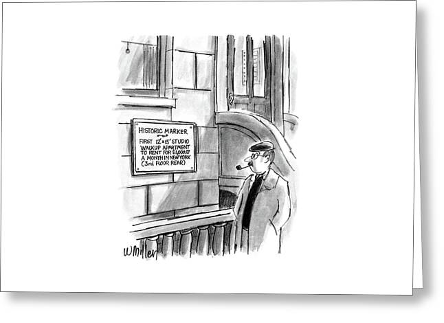 New Yorker December 14th, 1987 Greeting Card