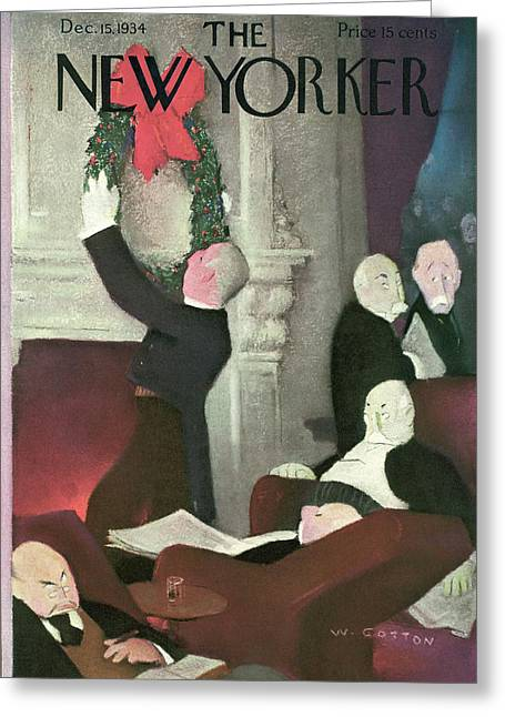 New Yorker December 15th, 1934 Greeting Card