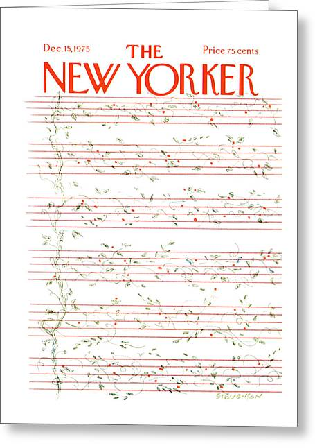 New Yorker December 15th, 1975 Greeting Card