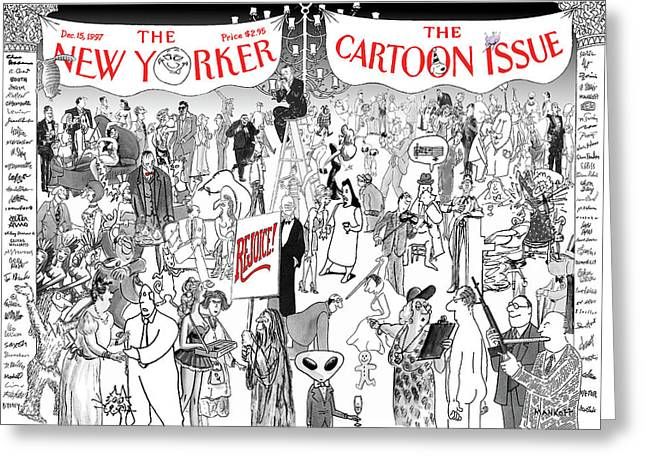 New Yorker December 15th, 1997 Greeting Card by Robert Mankoff