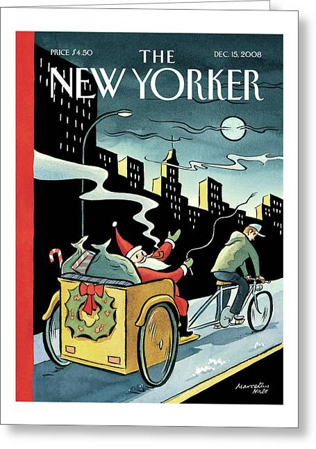 New Yorker December 15th, 2008 Greeting Card