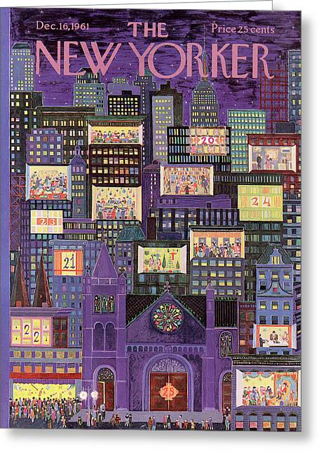 New Yorker December 16th, 1961 Greeting Card