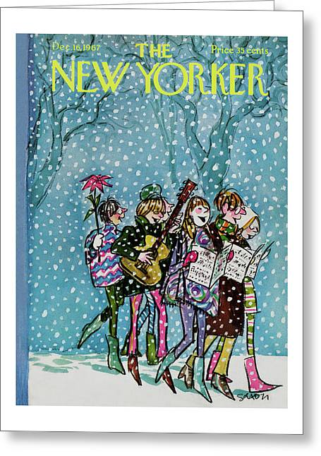 New Yorker December 16th, 1967 Greeting Card